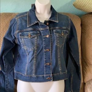 Playboy Jeans jacket with imprints in the back
